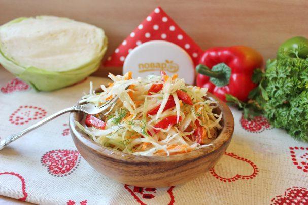 Осенний салат из капусты