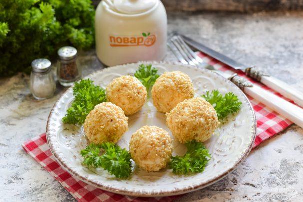 Простые сырные шарики