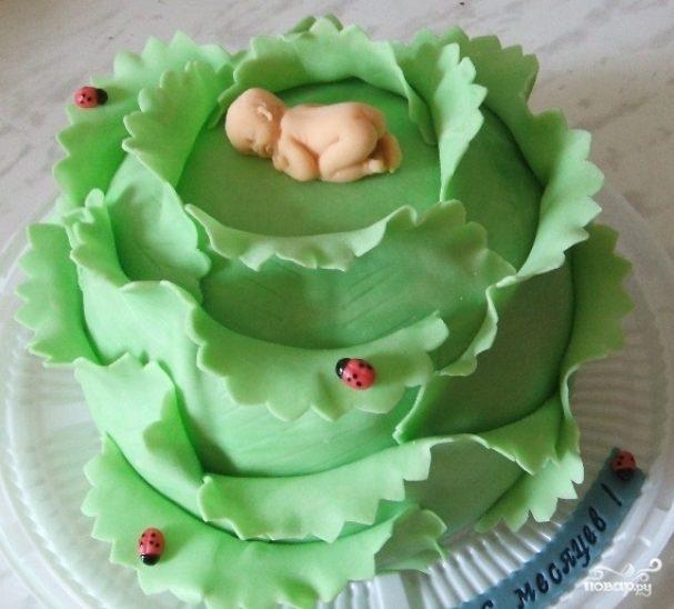поделитесь торт в виде капусты фото того