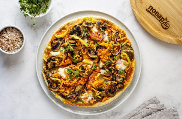 Вегетарианская пицца без дрожжей