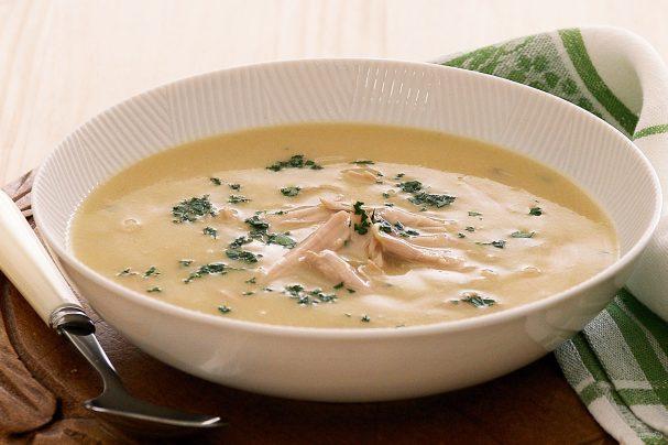 Суп-пюре из курицы со сливками