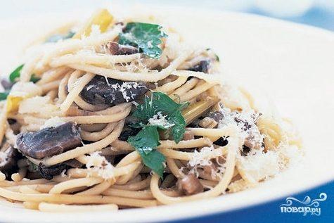 Спагетти с опятами