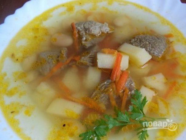 Суп из фасоли с мясом