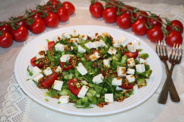 Салат с зелёным болгарским перцем