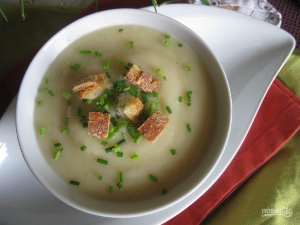 Овощной крем-суп с сухариками