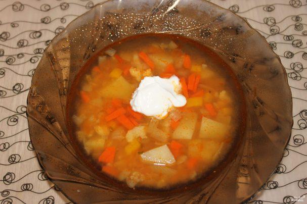 Вегетарианский суп в мультиварке