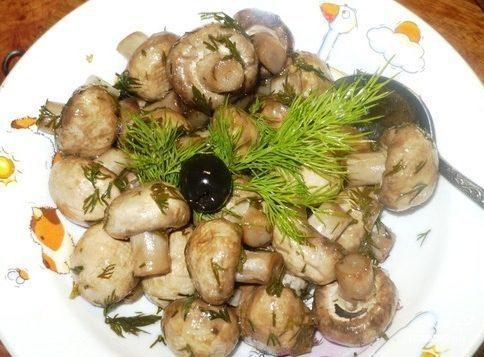 Быстрые маринованные грибы