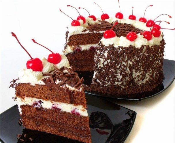 шварцвальдский торт с вишнями пошаговый рецепт