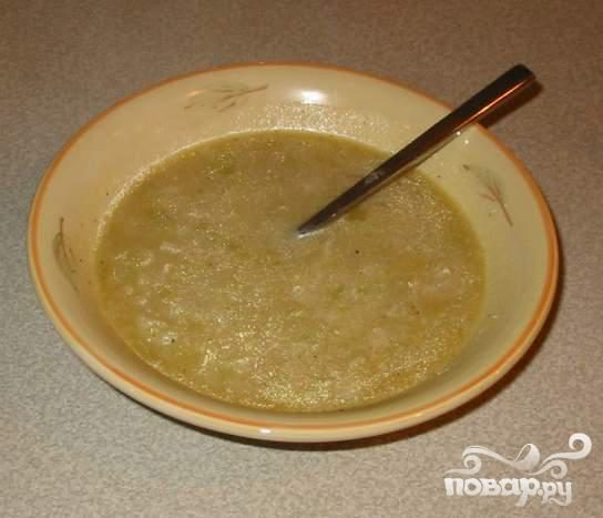 Суп с картофелем и луком-порей