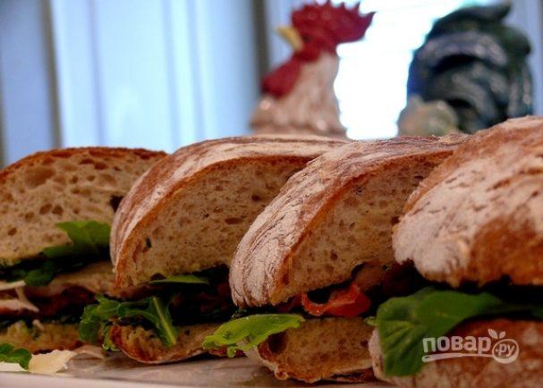 "Салат ""Цезарь"" в сэндвичах"