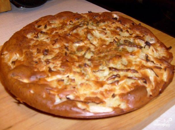 Заливной капустный пирог на кефире