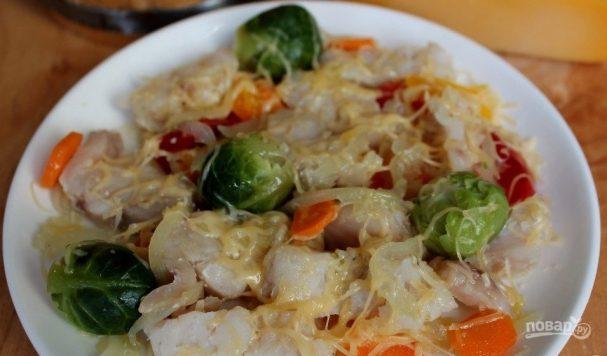 Приготовить рыбу с овощами в пароварке 1