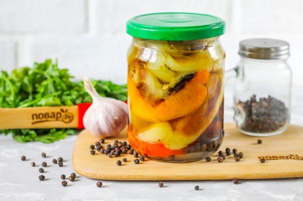 Жареный болгарский перец в маринаде