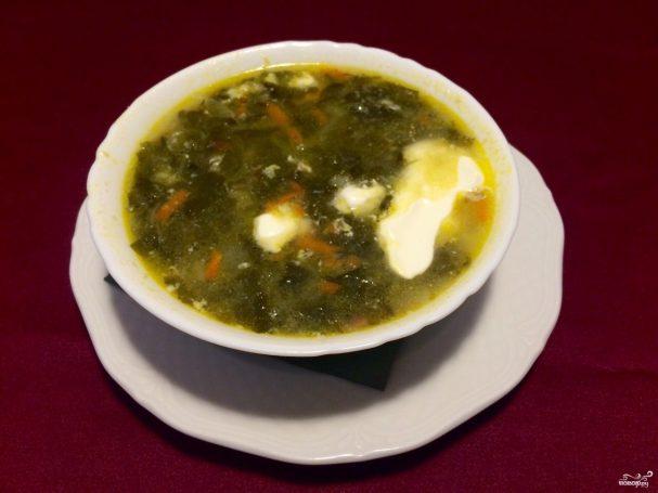 Щавелевый суп без яиц