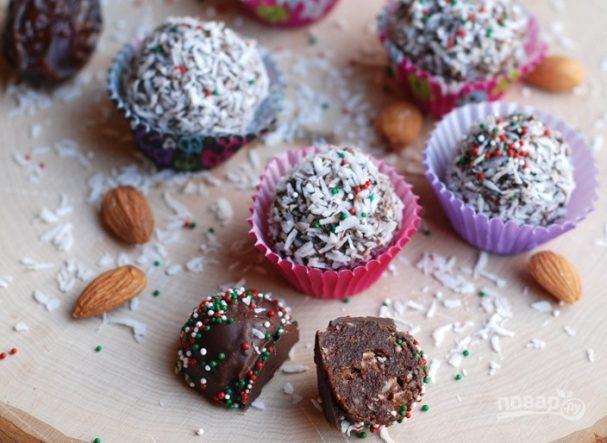 Шоколадные трюфели с миндалем