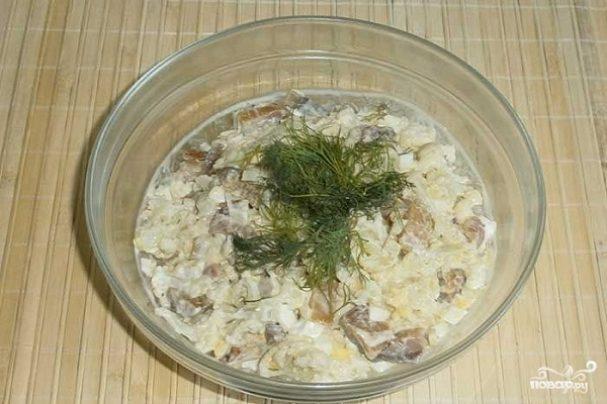 Салаты с масляной рыбой