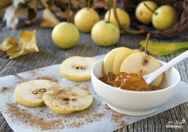 Яблочно грушевый конфитюр с корицей