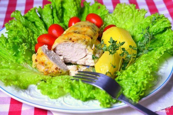 Курица со сливками в духовке