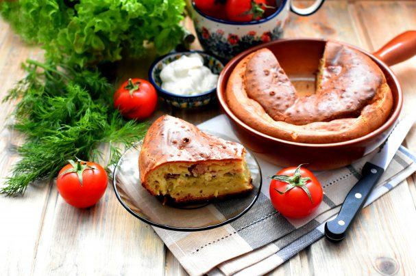 Пирог заливной с картошкой