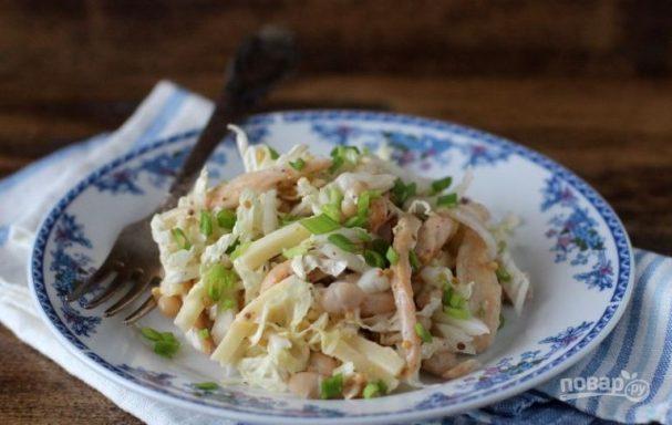 Салат из мяса курицы