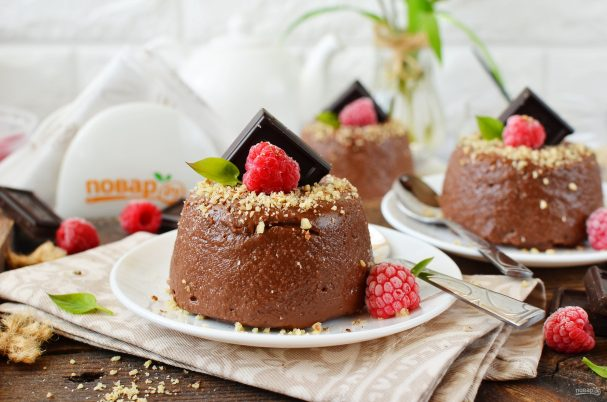 Десерт из шоколада