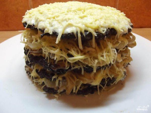 Печеночный торт с сыром