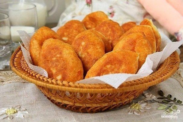 рецепт жареных пирожков с горохом на сковороде