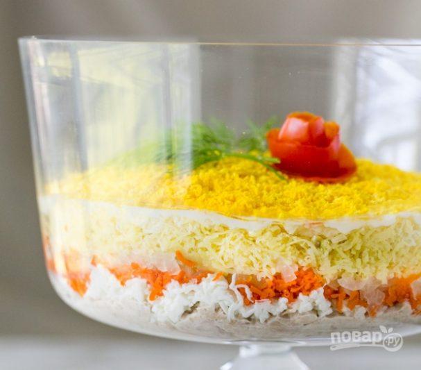 салат мимоза из тунца консервированного рецепт