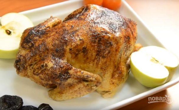 Курица с черносливом в фольге