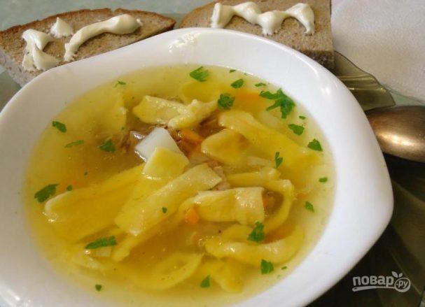 Детский суп на говяжьем бульоне