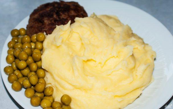 Пюре с яйцом и молоком
