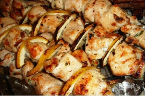 Шашлык из курицы (маринад с минералкой)