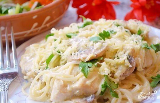 Соус для спагетти с курицей