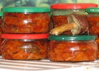 Салаты на зиму с грибами