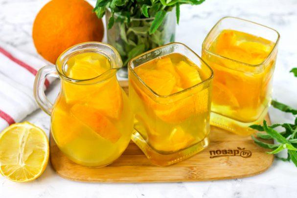 Компот из апельсина и лимона