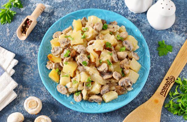 Диетическая картошка с грибами