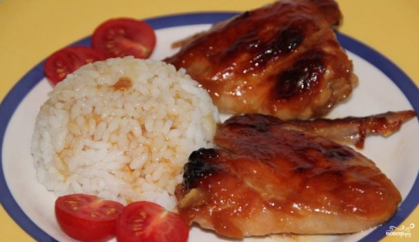 Куриные крылышки под соусом