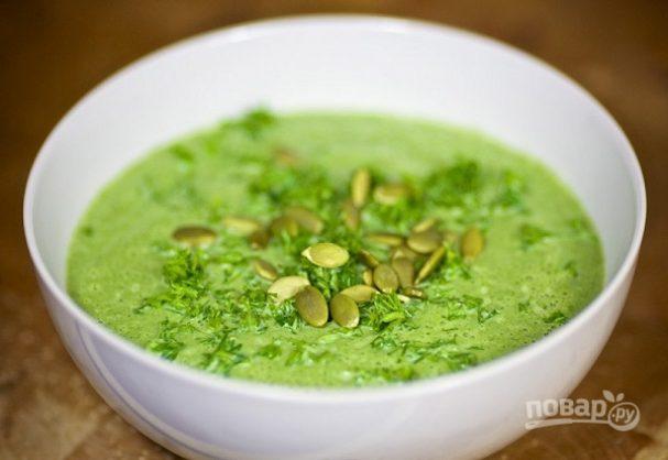 Суп-пюре со шпинатом