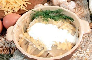 Равиоли с сыром и грибами
