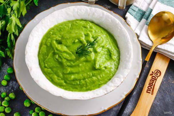 Мусс из зеленого горошка