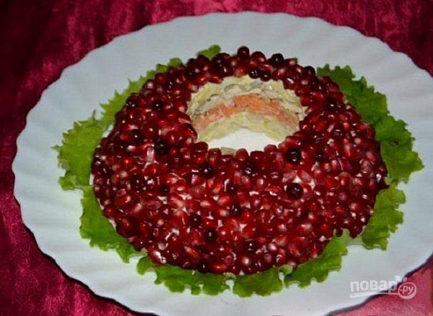 гранатовый браслет салат рецепт с курицей без картошки