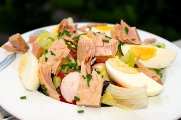 легкий салат на скорую руку очень