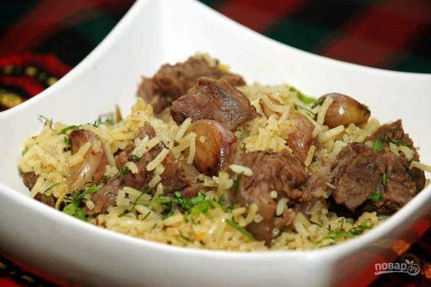Говядина с рисом