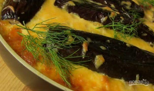 Запеканка из баклажанов с фаршем и сыром