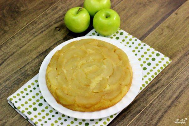 Перевернутый яблочный пирог