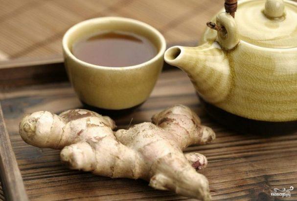 Черный чай с имбирем - рецепт с фото на