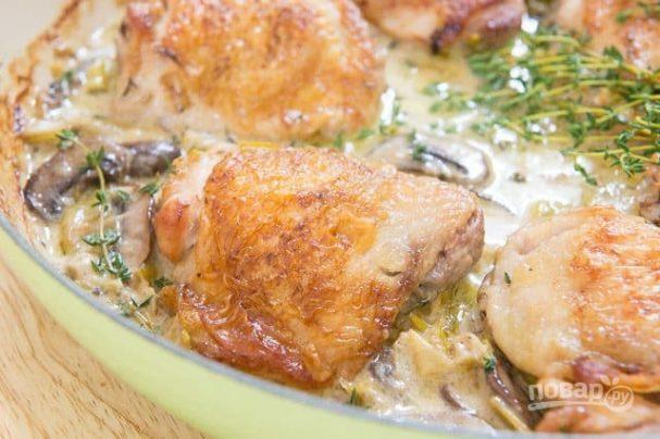 Куриные бёдра в сливочном соусе