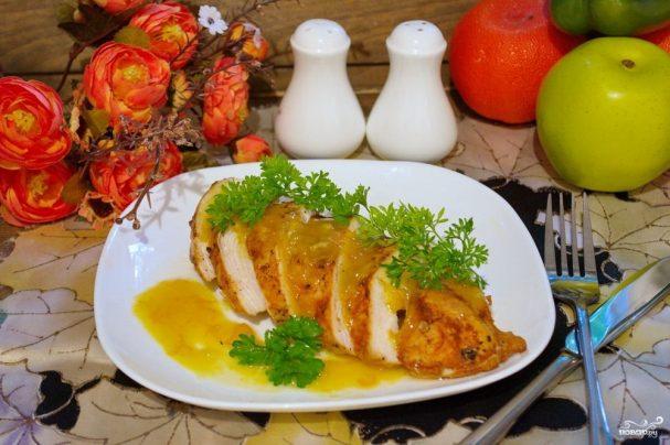 Курица под апельсиновым соусом