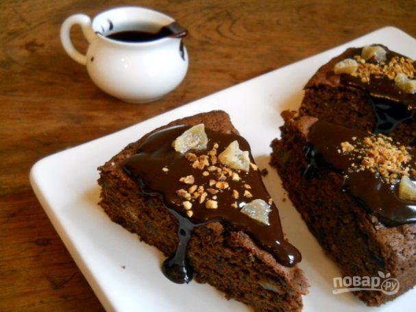 Гречневый пирог с черносливом