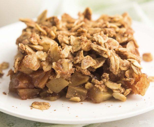 Сухой яблочный пирог